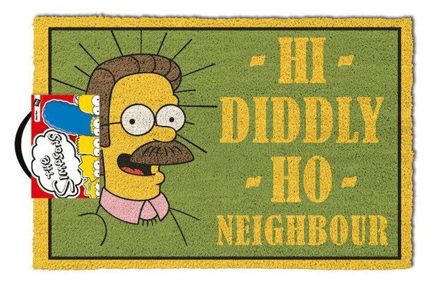 The Simpsons - 'Hi Diddly, Ho Neighbour' Doormat