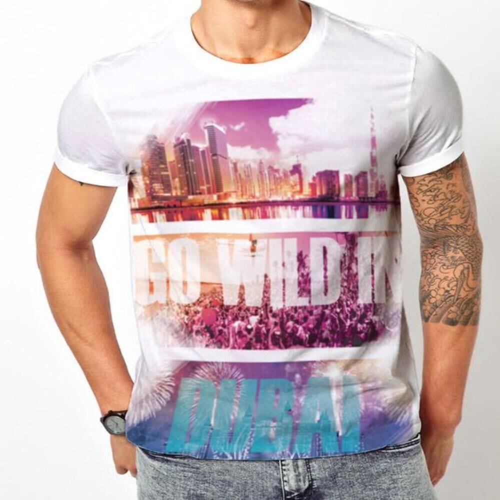 Wild in Dubai - 'MDL' Men's T-shirt | Online shopping Dubai
