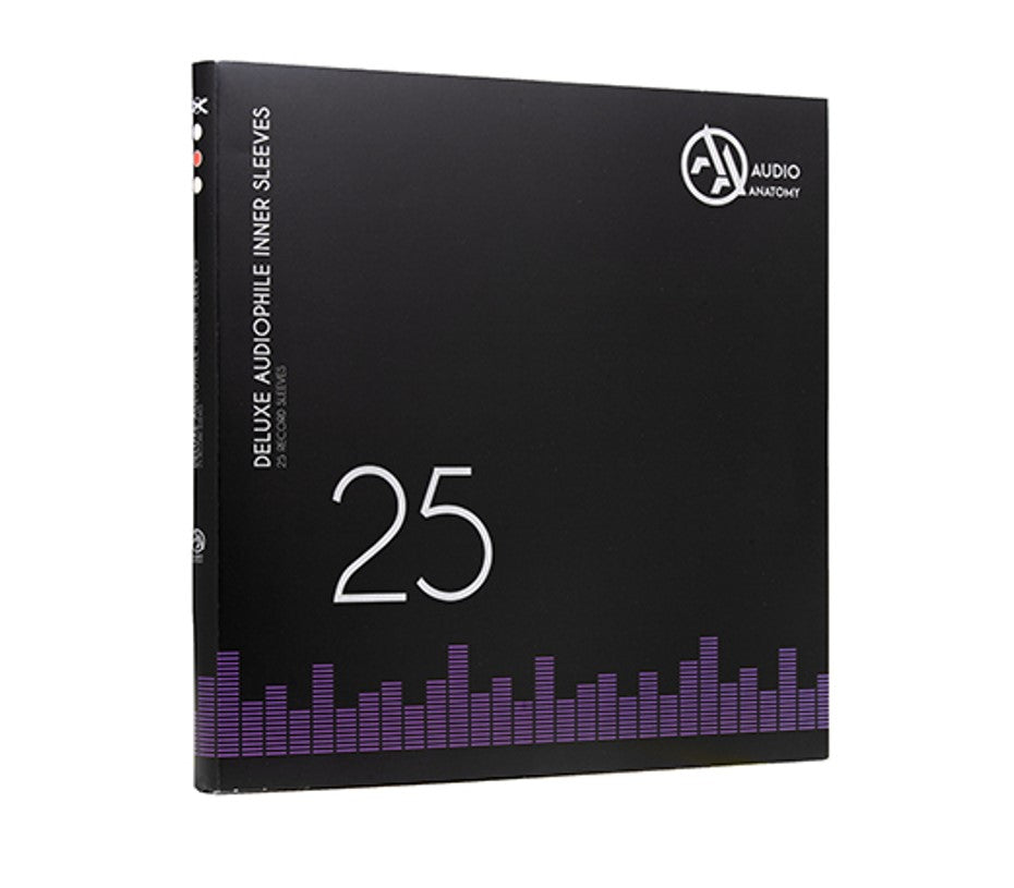 Audio Anatomy - 25 BLACK LP - 12 Inch Inner Sleeves Audiophile DeLuxe Poly-Lined double center hole