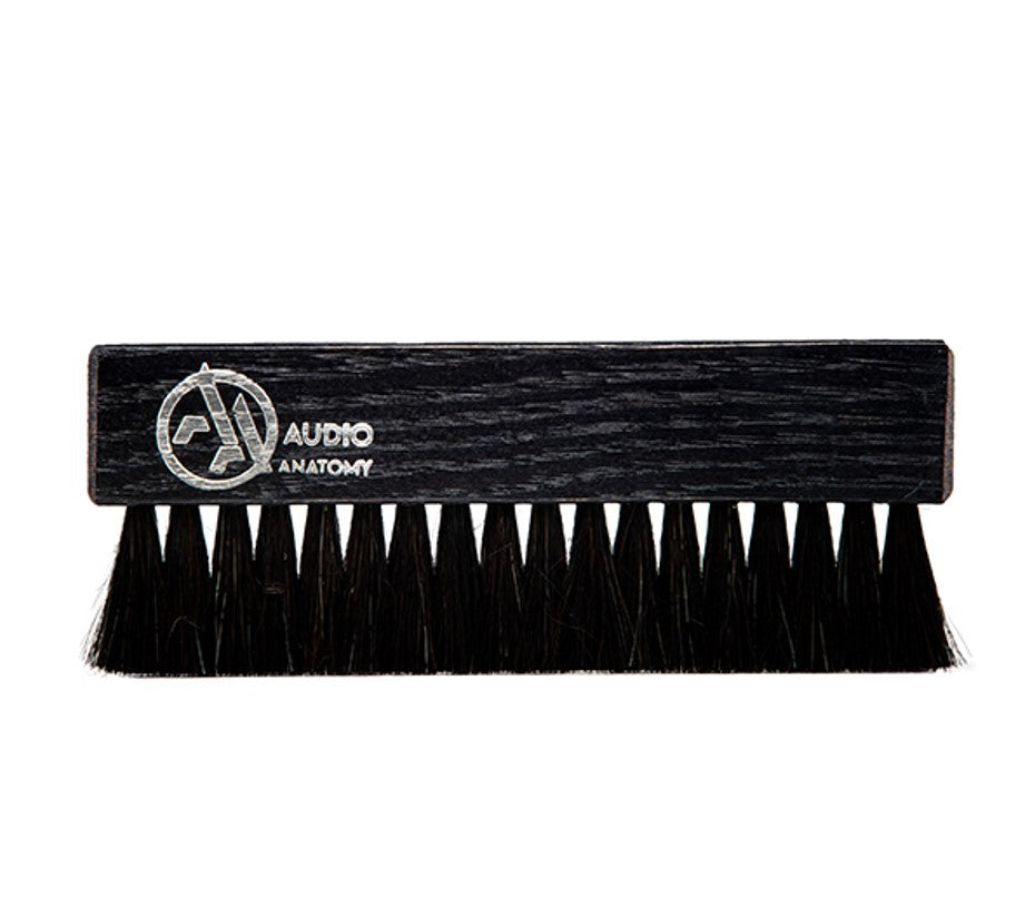 Audio Anatomy - Oak Wood Brush Black With Antistatic Goat And Nylon Fiber - Deluxe (Dry & Wet Cleaning)