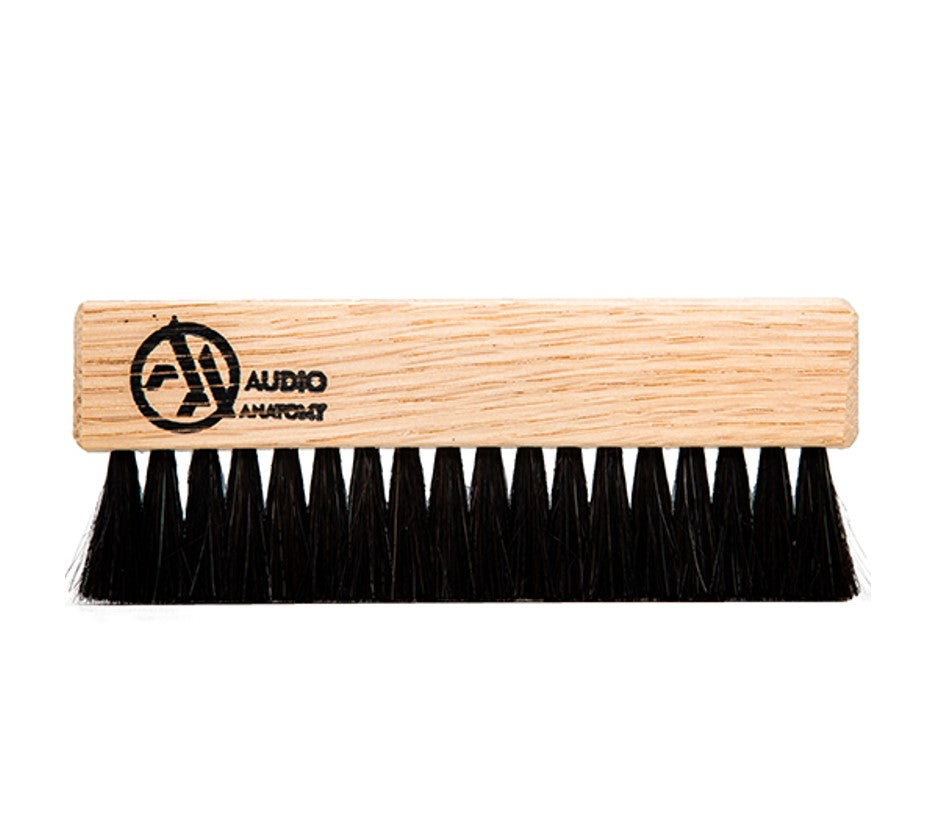 Audio Anatomy - Oak Wood Brush Natural With Antistatic Goat And Nylon Fiber - Deluxe (Dry & Wet Cleaning)
