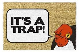 Star Wars - 'It's A Trap' Doormat