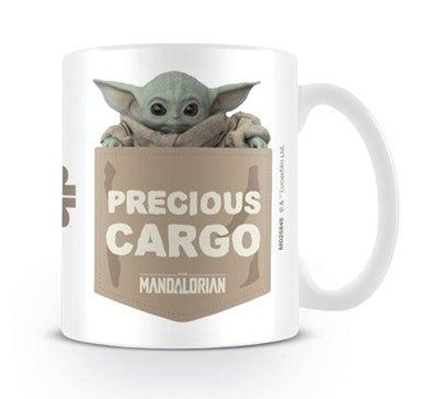 The Mandalorian Precious Cargo (Baby Yoda) Design Star Wars Licensed White 315 ml Ceramic Everyday Mug