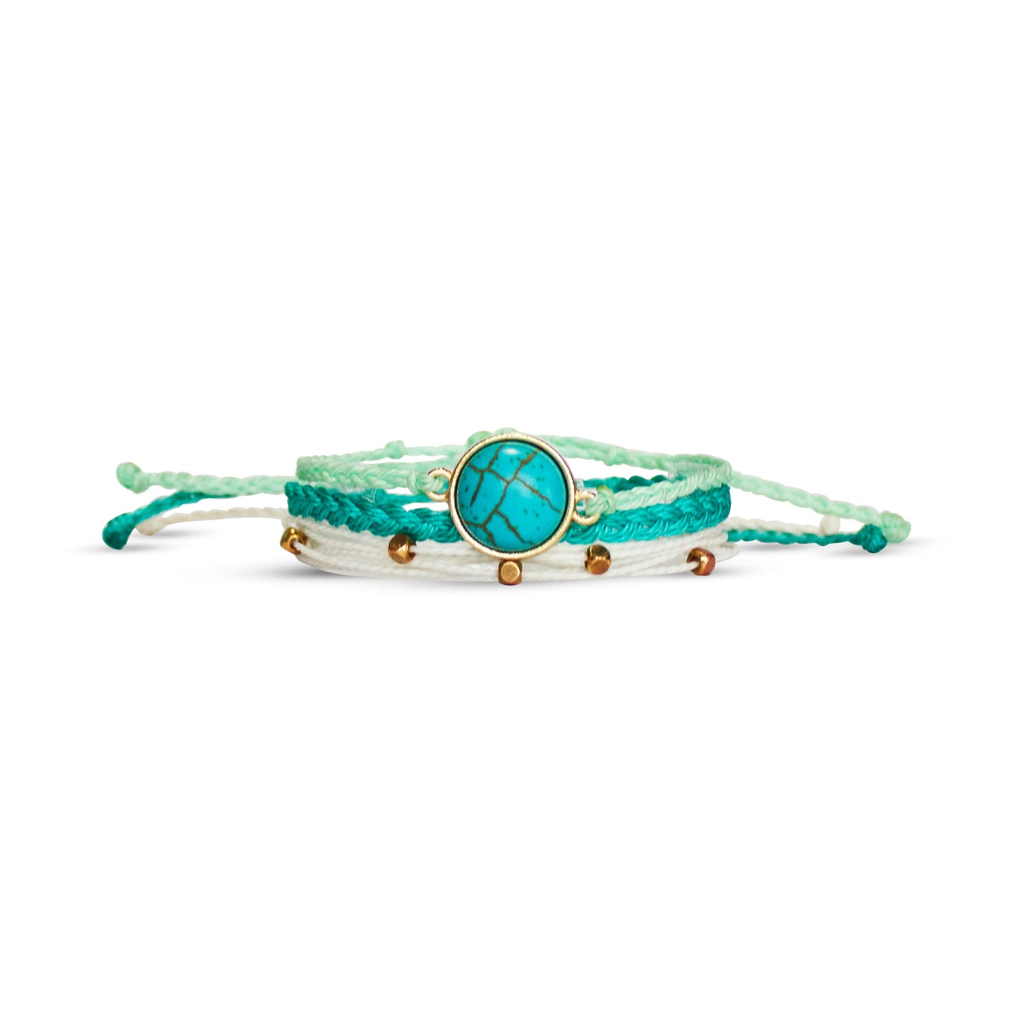 emerald eyes bracelet from Nakana Bracelet's OG collection on a white background