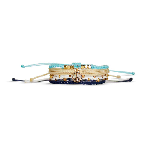 peaceful lake bracelet from Nakana Bracelet's OG collection on a white background