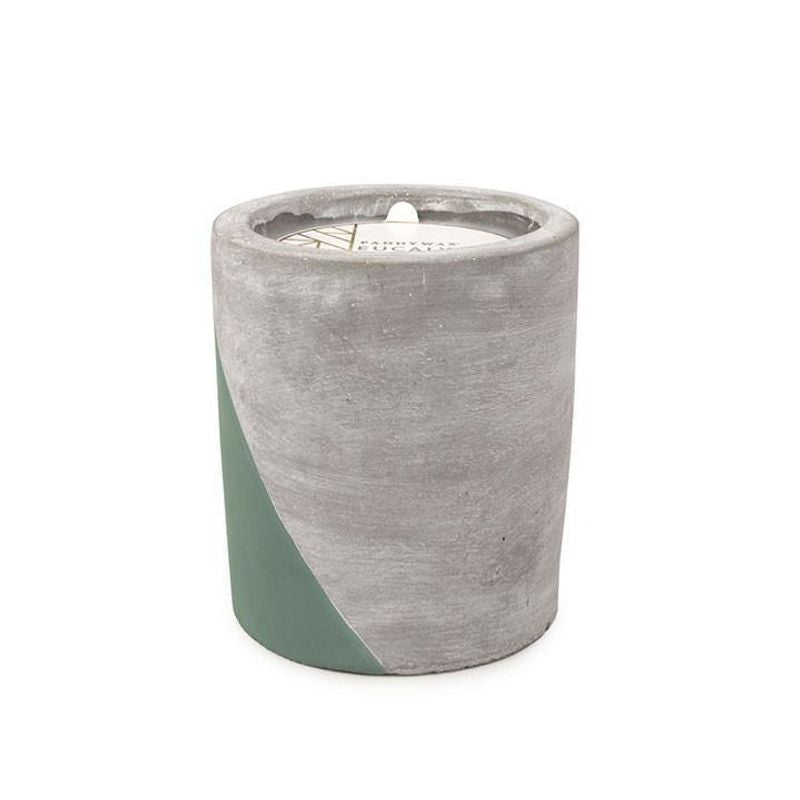 12oz Eucalyptus & Santal Soywax Candle in Concrete