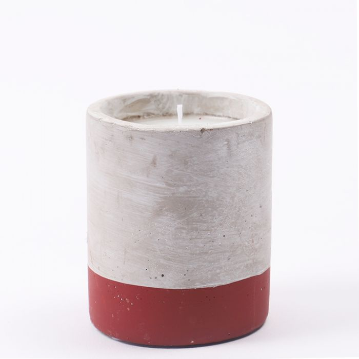3.5oz Cranberry Rose Soywax Candle in Concrete