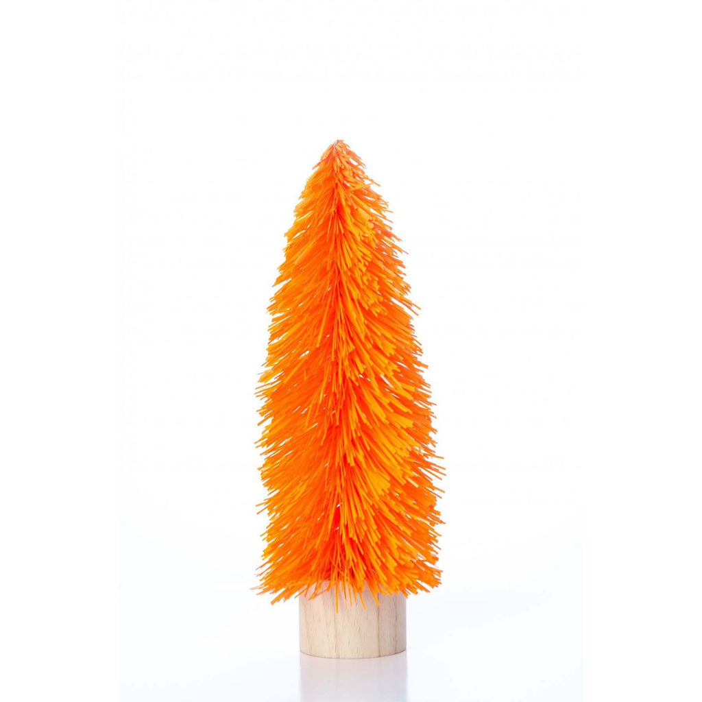 Medium Retro Tinsel Tree - Orange