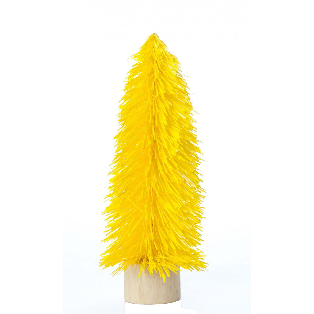 Medium Retro Tinsel Tree - Yellow