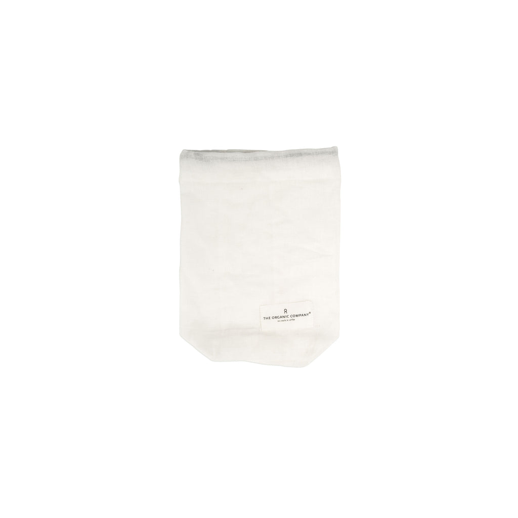 Small Organic Food Bag - Natural White