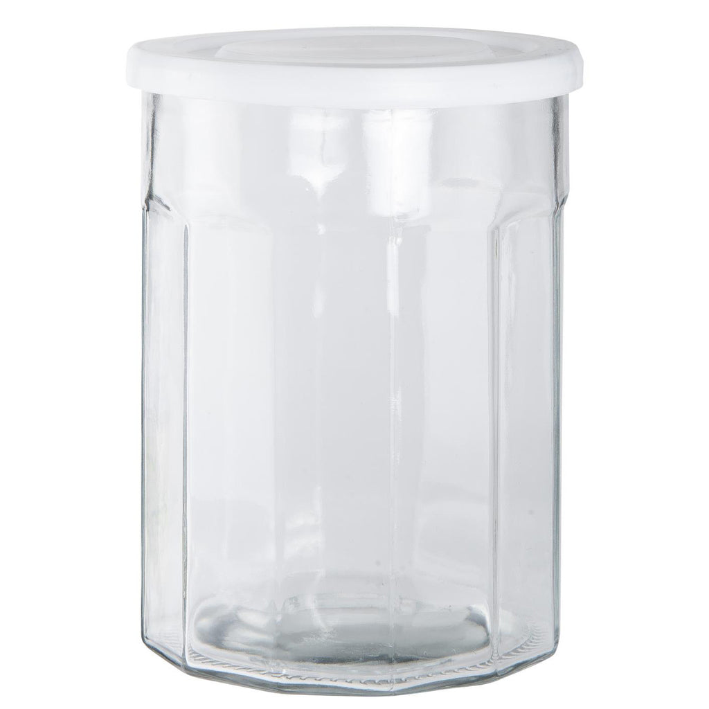 1400ml Glass Storage Jar With Plastic Lid