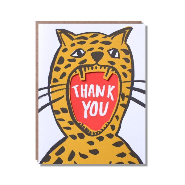 Leopard Mouth Thank You Card