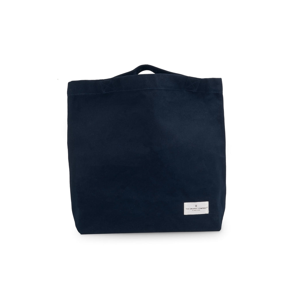 Organic Cotton Tote Back - Dark Blue