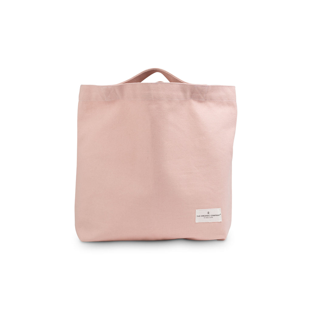 Organic Cotton Tote Back - Pale Rose