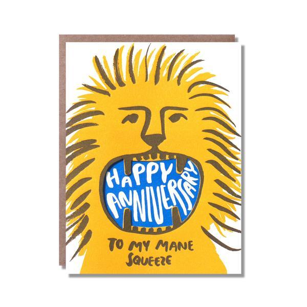 Anniversary Lion Mouth Card