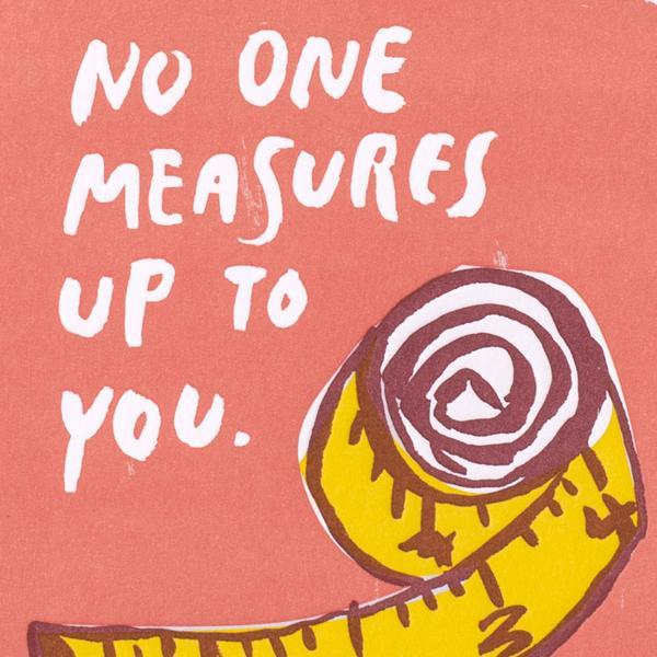 Measures Up Valentine's Card