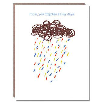 Rain Cloud Mother's Day Card