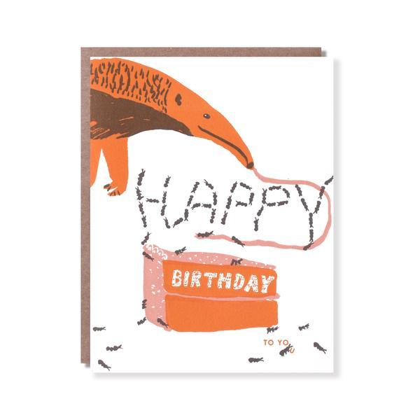 Anteater Greetings Birthday Card