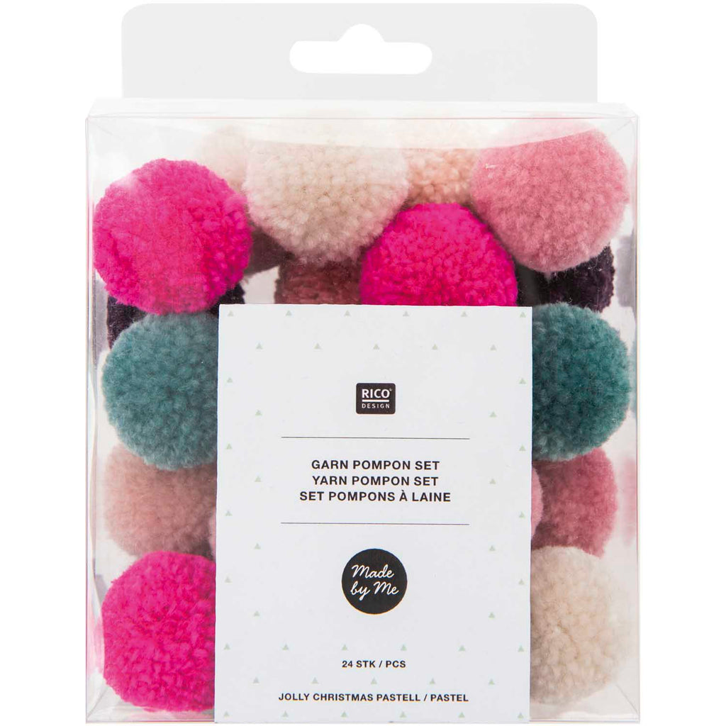 Pack of Mini Yarn Pom-poms - Jolly Mix