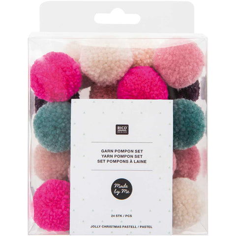 Pack of Mini Yarn Pompoms - Jolly Mix