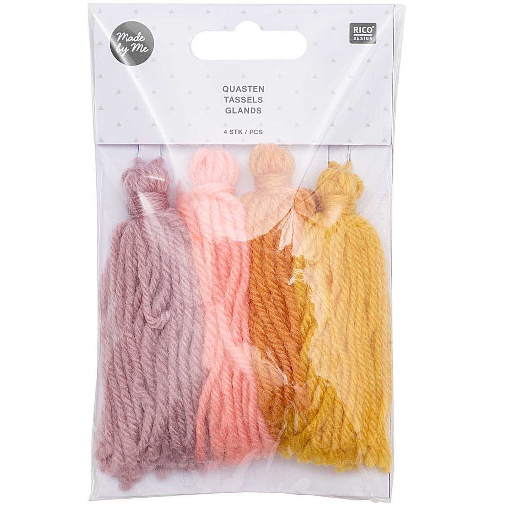 Chunky Yarn Tassels - Sunset Set of 4
