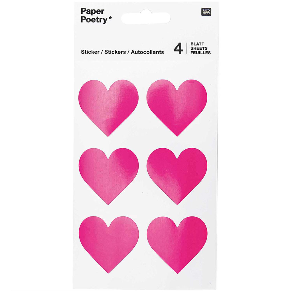 Sticker Pack - Pink Hearts