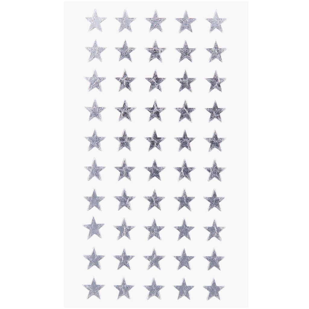 Sticker Pack - Silver Stars 10mm