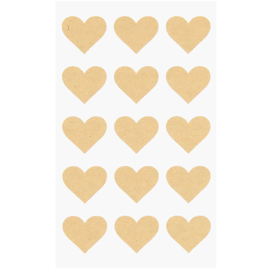 Sticker Pack - Kraft Hearts