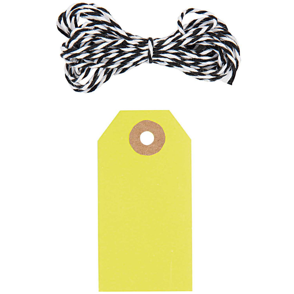 Gift Tag Pack With String - Yellow