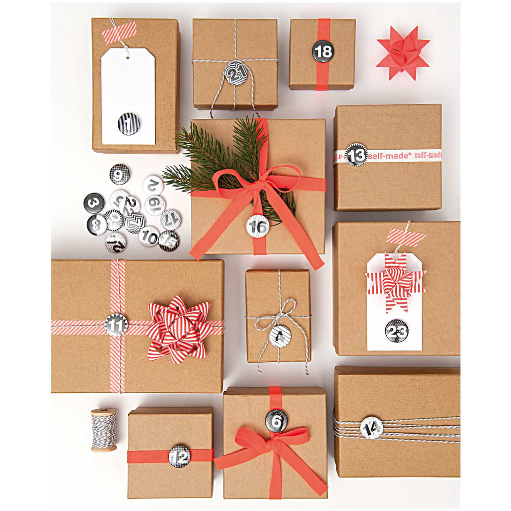 24 Cardboard Boxes Advent Calendars - Kraft