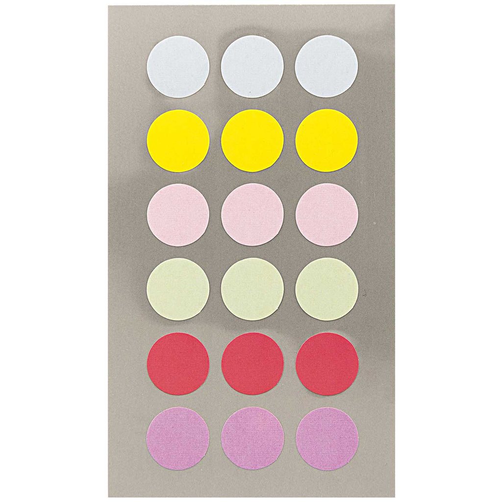 Sticker Pack - Pastel Dots 15mm