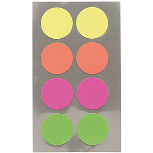 Sticker Pack - Neon Dots 25mm