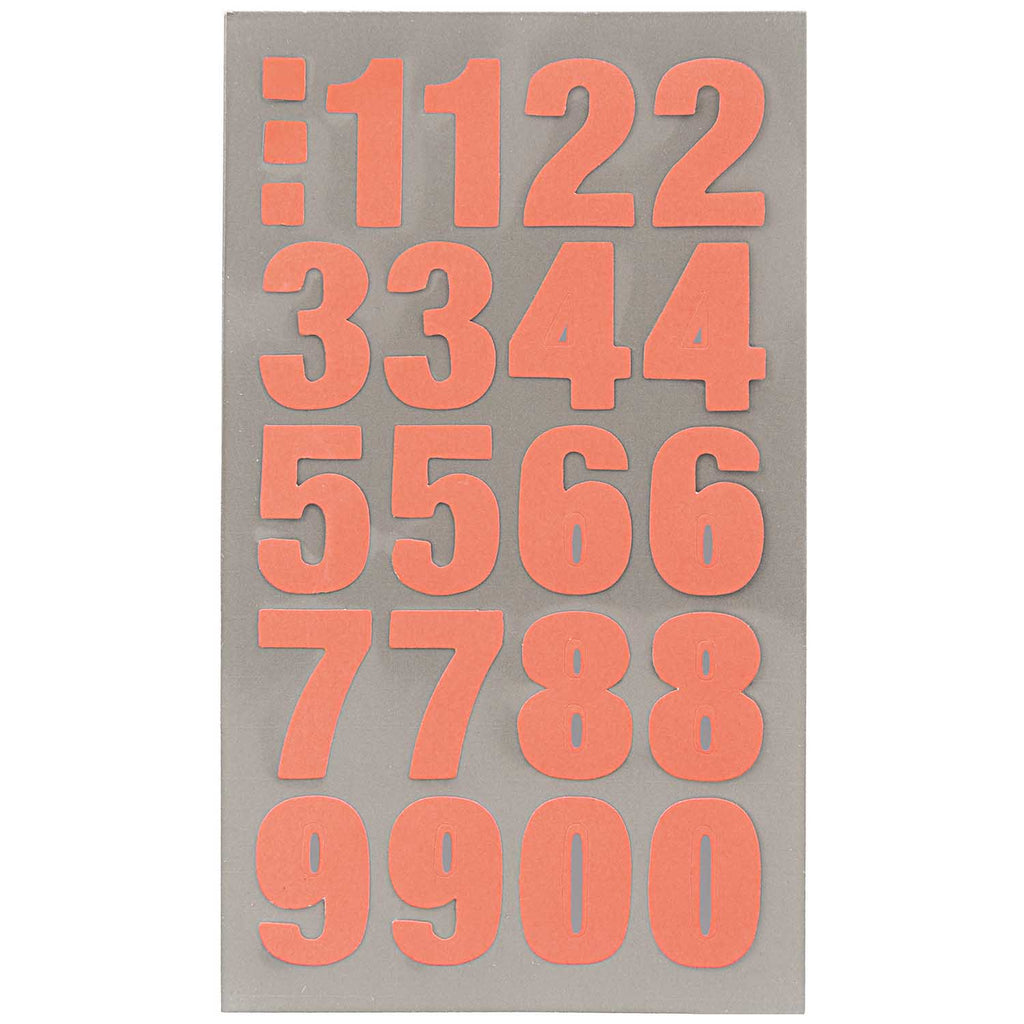 Sticker Pack - Orange Numbers