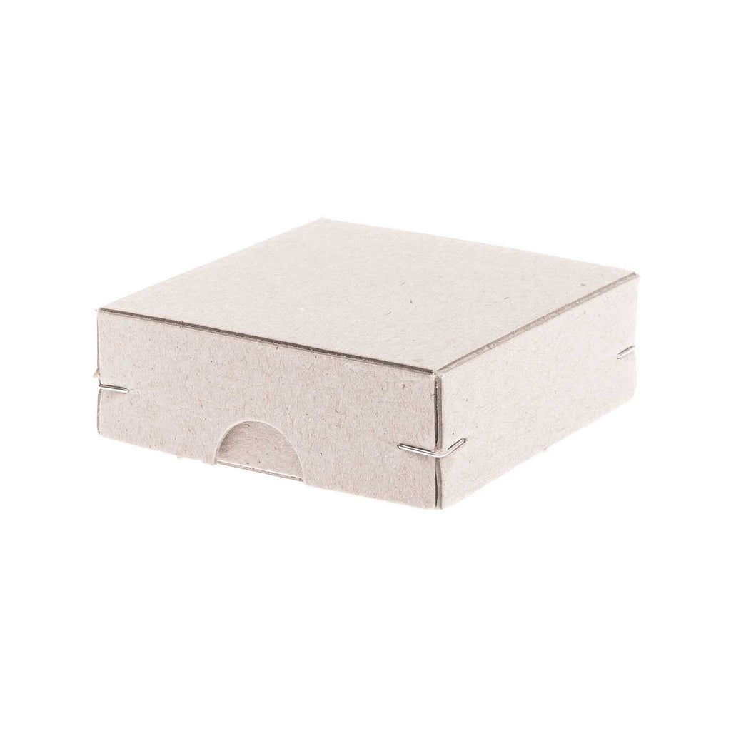Greyboard Stapled Box - Square 7 x 7 x 2.5 cm