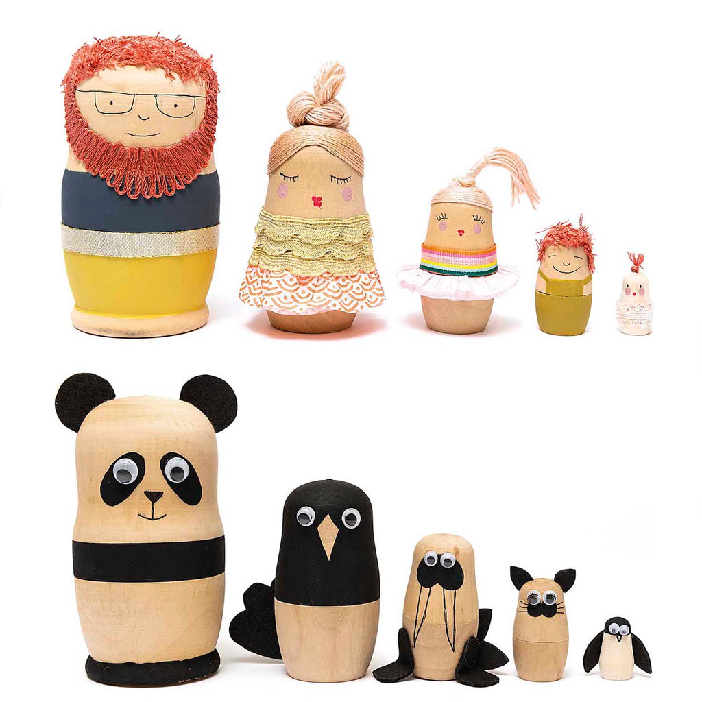 Blank Set of Five Russian Dolls