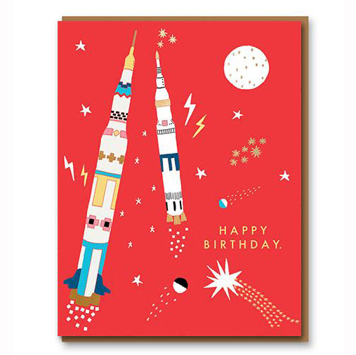 Apollo Soars Birthday Greetings Card