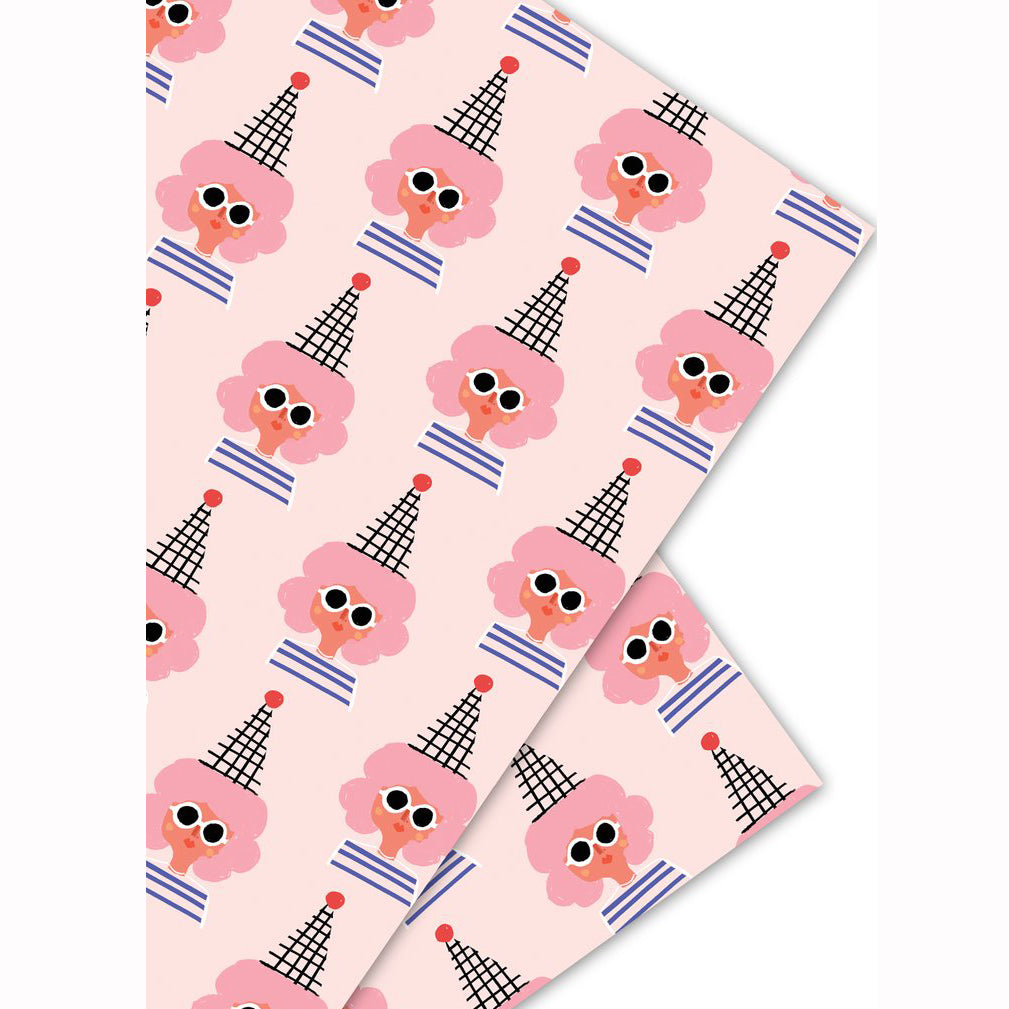 Party Girl Wrapping Paper Sheet