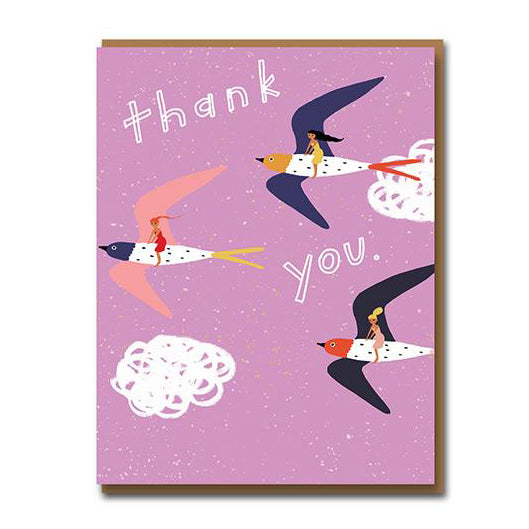 Flying High Thank You Greetings Card