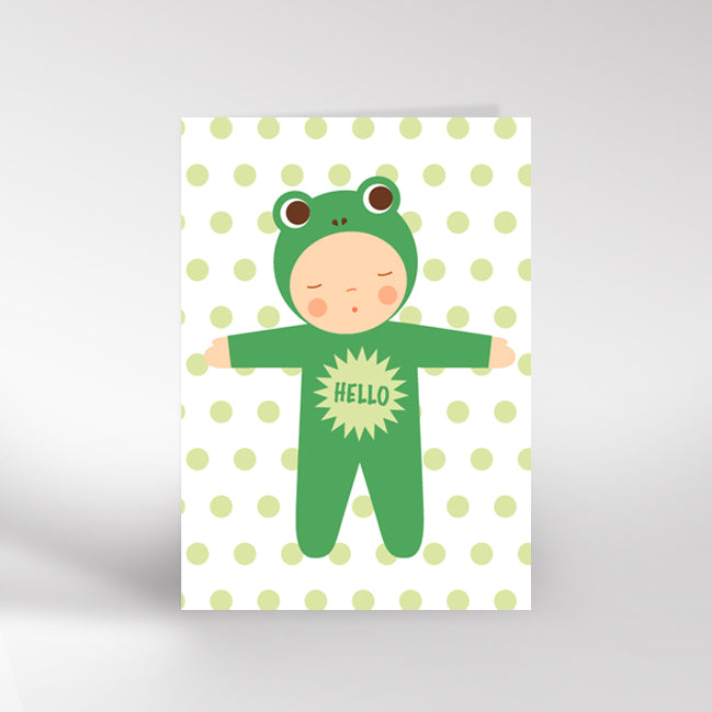 Frog Baby New Baby Card