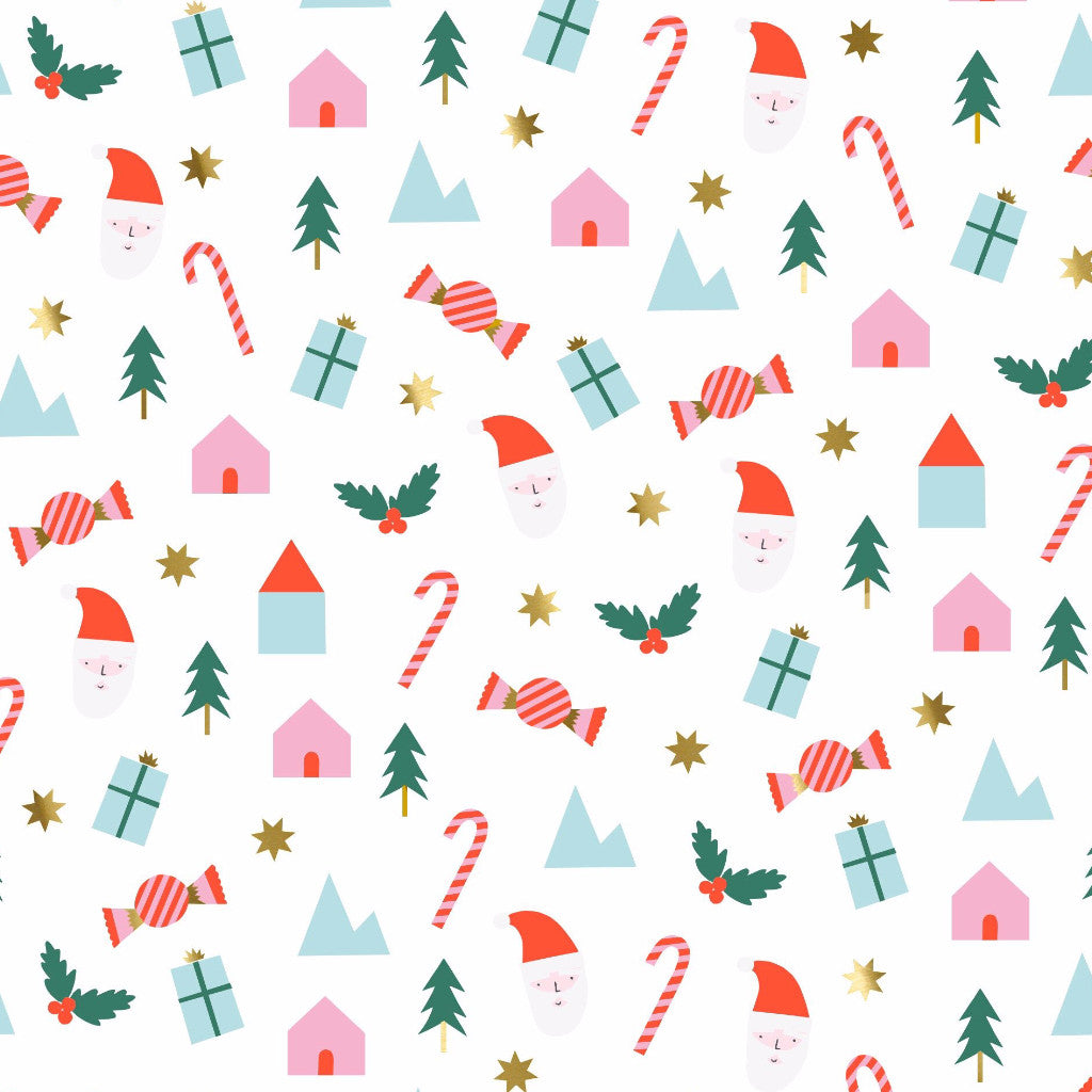 Festive Icons Christmas Wrapping Paper Roll