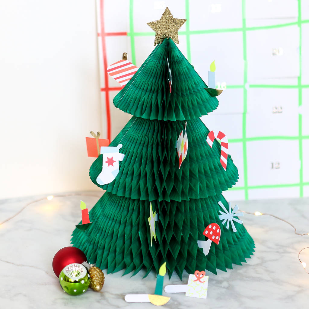 Honeycomb Christmas Tree Advent Calendar