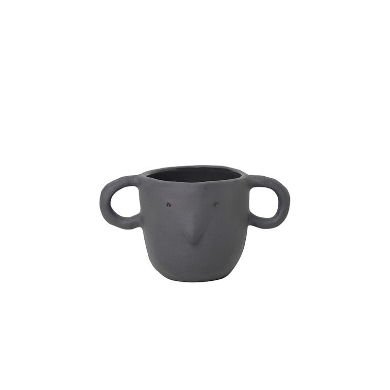 'Mus' Plant Pot, Small Dark Grey