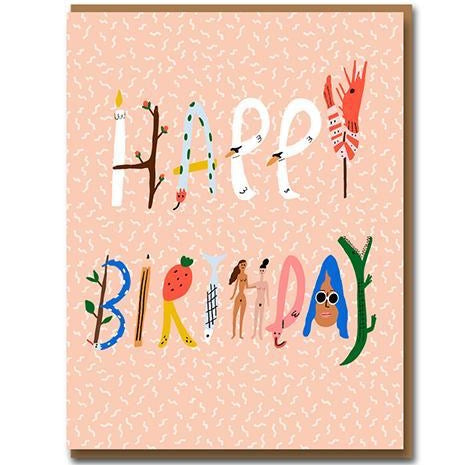 Spell It Out Birthday Greetings Card
