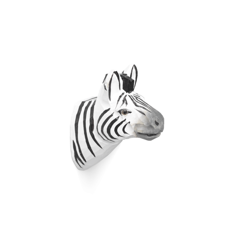 Hand Carved Animal Hook - Zebra