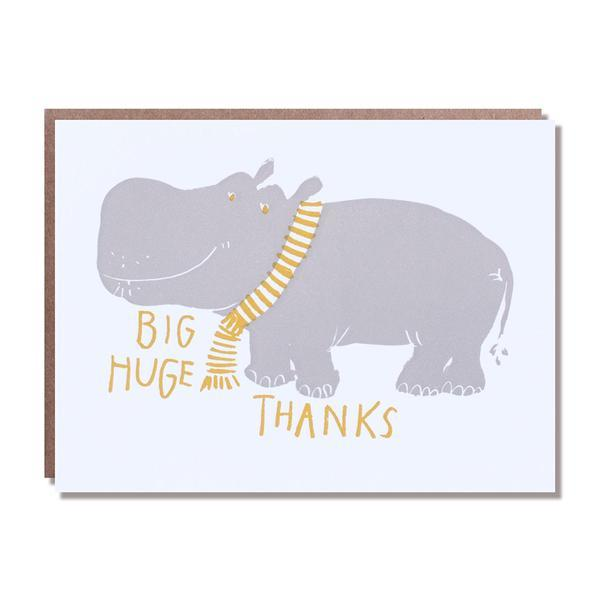 Hippo Huge Thanks Card