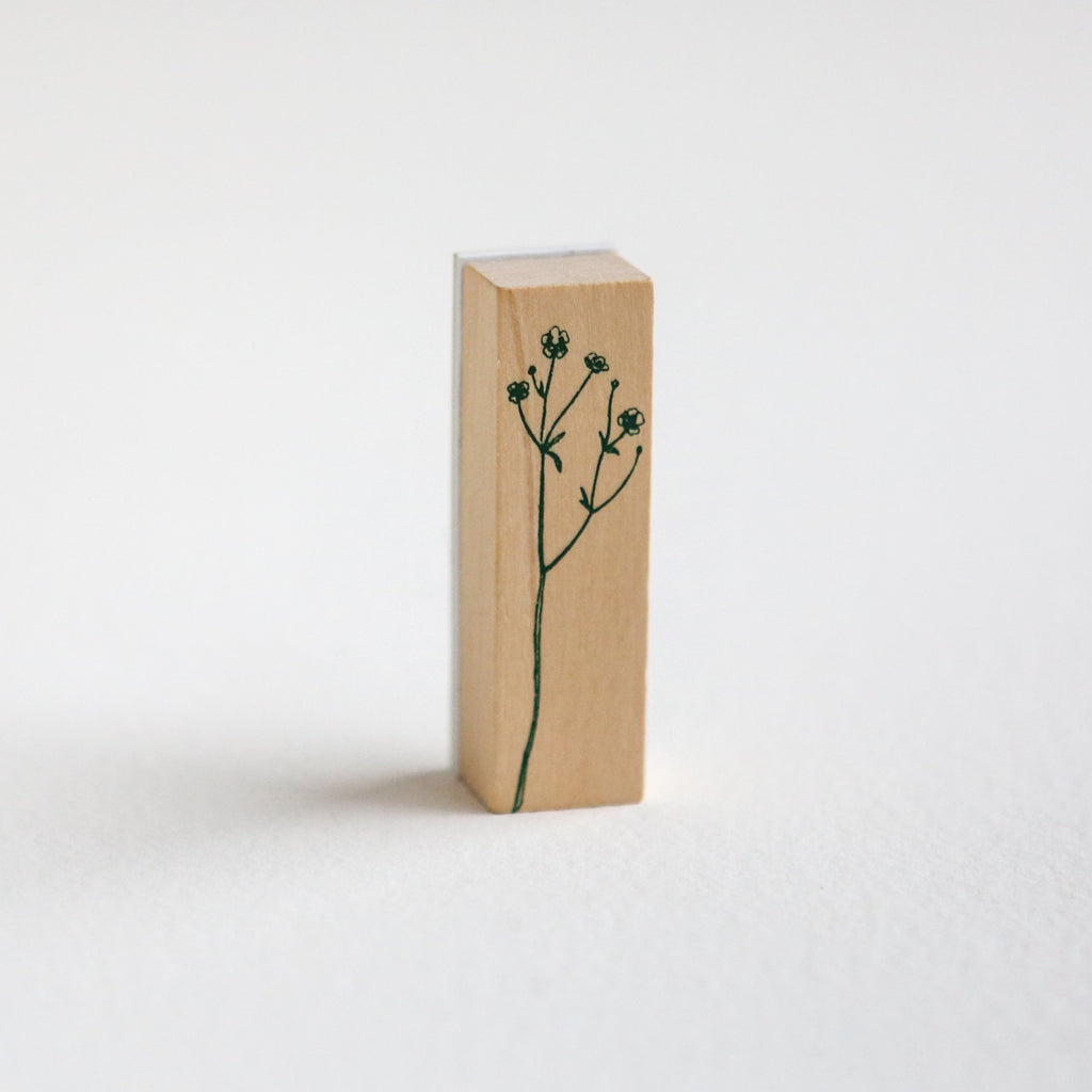 Delicate Botanical Stem Rubber Stamp - Design 2