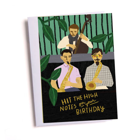 High Notes Birthday Greetings Card