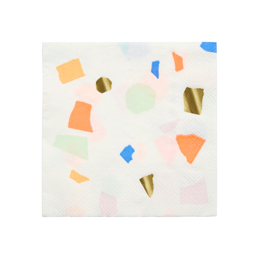 Multicolour Terrazzo Paper Party Napkins