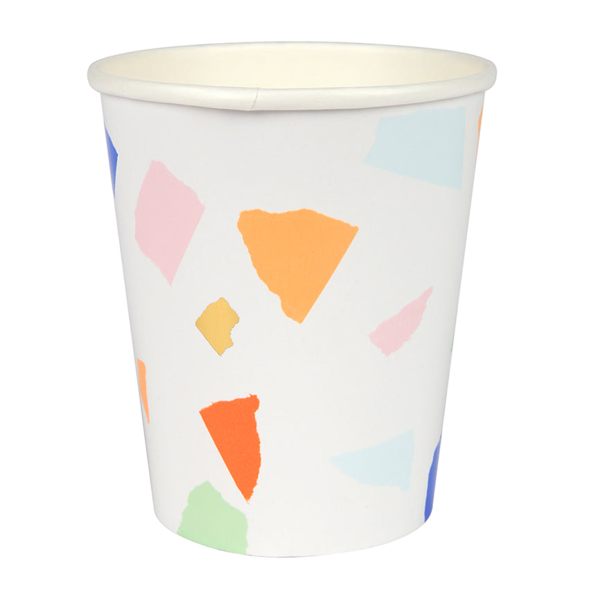 Multicolour Terrazzo Paper Party Cups