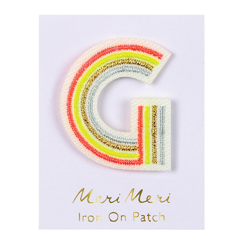 DIY Iron On Alphabet Patches